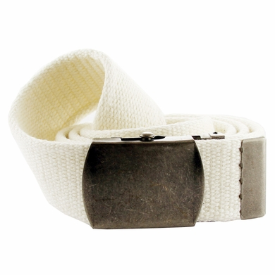 Fabric Web Belt 1. 5 inch wide - White