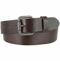 Falcon Vintage Full Grain Leather Brass Roller Buckle Belt - Brown