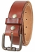 Falcon Vintage Full Grain Leather Brass Roller Buckle Belt - Tan1