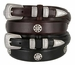 Five Card Stud Poker Men's Oil-Tan Leather Ranger Belt