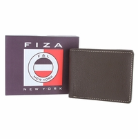 FIZA F&L Brown Leather Bifold Wallet - Brown