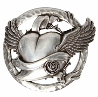 Flying Heart Belt Buckle