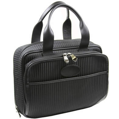 "French Luggage Co. Black Shadow 12"" Personal Tote"