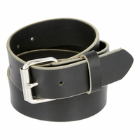 "Full Grain One Piece Heavy Duty Leather Belt Work Belt Gun Belt 1-1/2"" wide (38mm) - Black"