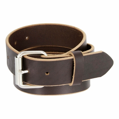 "Full Grain One Piece Heavy Duty Leather Belt Work Belt Gun Belt 1-1/2"" wide (38mm) - Brown"