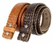 Fullerton 3810002 Crossweave Genuine Full Grain Double Stitched Edges Leather Belt Strap