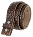 Fullerton 3810002 Crossweave Genuine Full Grain Double Stitched Edges Leather Belt Strap2