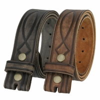 Fullerton 382000 Genuine Full Grain Leather Tooled Belt Strap