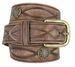 Fullerton 3820002 Genuine Full Grain Leather Tooled Belt with Antique Brass Buckle and Celtic Conchos2