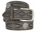 Fullerton 3820004 Genuine Full Grain Leather Tooled Belt with Antique Nickel Buckle and Celtic Conchos2