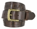 Fullerton 3830002 Genuine Full Grain Leather Belt Strap with Matching Overlapped Leather - Brown1