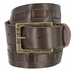 Fullerton 383000204 Genuine Full Grain Leather Belt Strap with Matching Overlapped Leather - Brown1