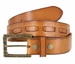 Fullerton 383000304 Genuine Full Grain Leather Belt Strap with Matching Overlapped Leather - Tan3