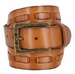 Fullerton 383000304 Genuine Full Grain Leather Belt Strap with Matching Overlapped Leather - Tan1