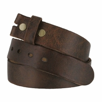 "Fullerton 3840002 Genuine Full Grain Vintage Distressed Leather Belt Strap 1-1/2"" Wide"