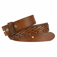 Fullerton 386002 Hand Laced Genuine Full Grain Leather Belt Strap