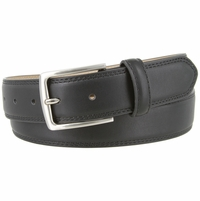 "Jon's District Genuine Leather Casual Dress Belt 1-3/8"" wide - Black"