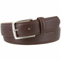 "Jon's District Genuine Leather Casual Dress Belt 1-3/8"" wide - Brown"