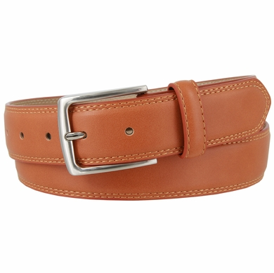 "Jon's District Genuine Leather Casual Dress Belt 1-3/8"" wide - Tan"