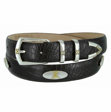 Gold Helix Men's Concho Belt