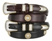 Gold Horse Head Men's Genuine Leather Ranger Belt
