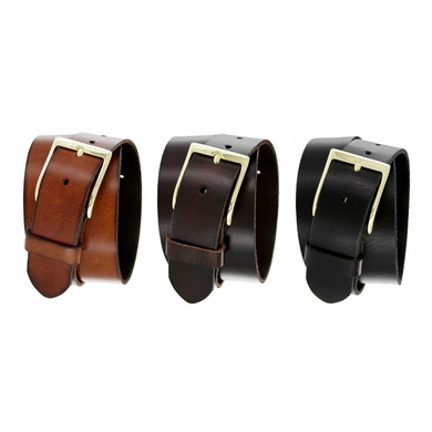 Gold JT-10699 Men's Full Grain Leather Casual Jean Belt