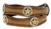Gold Nocona Star Conchos Western Leather Belt4