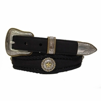 Golden Star Western Leather Conchos Belt