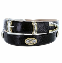 Golf Classic Crossed Golf Clubs Conchos belt