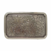 H8134 LASRP Western Engraved Rectangular Belt Buckle