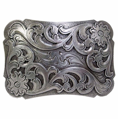 HA 0038 LASRP Western Floral Scroll Belt Buckle