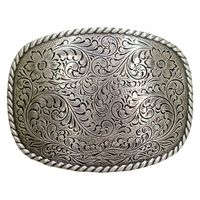 HA 0359 LASRP Western Engraved Design Belt Buckle