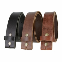 "Hand Cut Hand Made One Piece Genuine Full Leather Belt Strap Made in USA 1-1/2"" Wide"