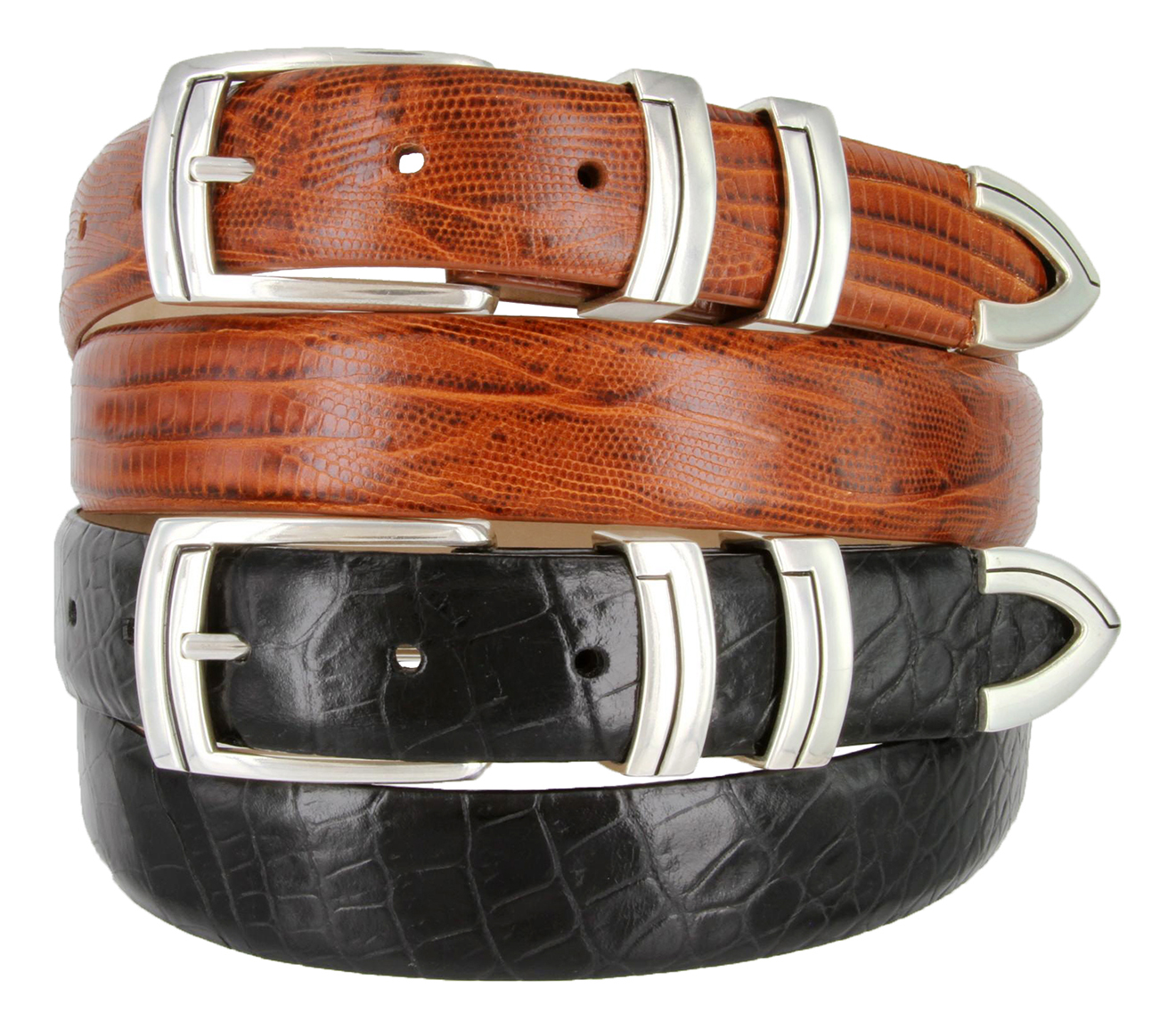 "The Harbor Italian Calfskin Genuine Leather Designer Dress Belts 1-1//8/"" Wide"