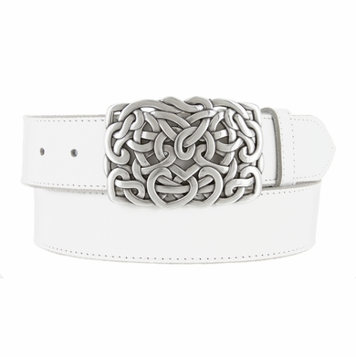 Heart Connected Belt Buckle Casual Jean Leather Belt