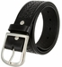"Heavy Duty Basketweave Work Uniform Gun Genuine Leather Belt 1.75"" wide for Men - Black"