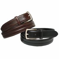 "HJ-20 Italian Oiled Tanned Cowhide Leather Belt 1 1/8"" Wide Belt"