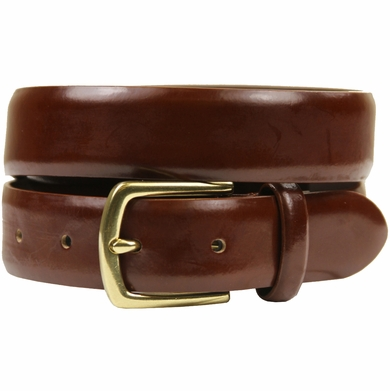 "HJ-29 30mm Italian Leather Belt 1 1/8"" Wide Belt-Light Brown"