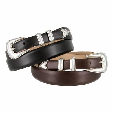 Jackson Hole Men's Leather Designer Dress Belt