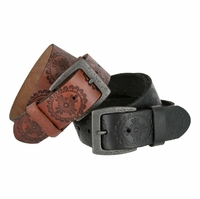 "Jessie's Vintage Western Casual Full Grain Leather Jean Belt 1-1/2"" wide"