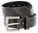 Jordan Western Engraved Buckle Full Leather Belt 1-1/2 inch (38mm) - Black1