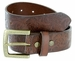 Jordan Western Engraved Buckle Full Leather Belt 1-1/2 inch (38mm) - Brown1