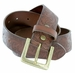 Jordan Western Engraved Buckle Full Leather Belt 1-1/2 inch (38mm) - Brown2