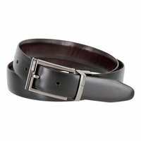 "Kenneth Cole Reaction 1-1/4"" (32mm) Feathered Edge Reversible Belt - Black/Brown"