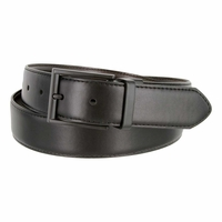 "Kenneth Cole Reaction Black Buckle 1-3/8"" (35mm) Edge Stitched Reversible Belt Black/Brown"
