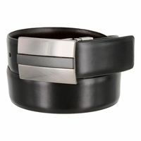 Kenneth Cole Reversible Leather Dress Belt - Black & Burgundy