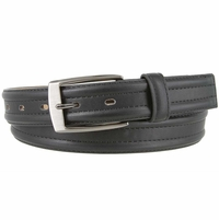 "Kevin's Connection Genuine Leather Belt 1-3/8"" wide - Black"