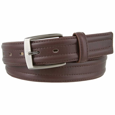"Kevin's Connection Genuine Leather Belt 1-3/8"" wide - Brown"