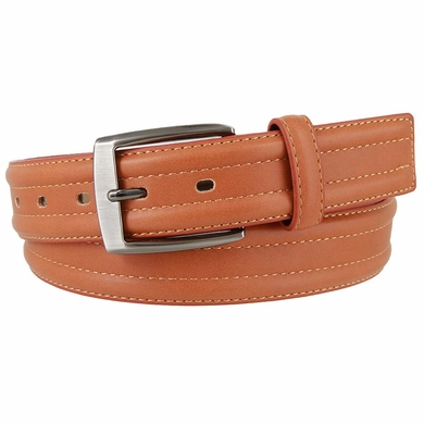 "Kevin's Connection Genuine Leather Belt 1-3/8"" wide - Tan"