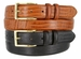 "Kid's Embossed italian Leather Dress Belt with Gold Plated Buckle 1-1/8"" wide"